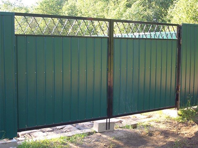 Распашные ворота в Гомеле